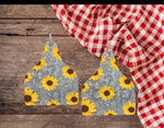 Sublimation print  ONLY ( 14 different sizes) - Cow sunflower tag - Made for our blanks
