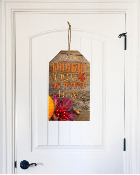 Sublimation print ONLY - Autumn leaves and pumpkin please tag  - Made for our MDF sublimation