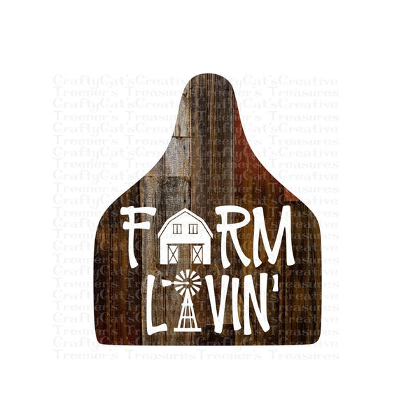 Sublimation print  ONLY ( 14 different sizes) - Farm livin tag - Made for our blanks