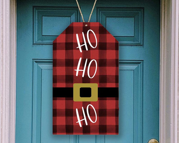 Sublimation print ONLY - Ho Ho Ho plaid  tag  - Made for our MDF sublimation