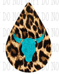 Sublimation print ONLY- Cheetah tear drop earring design - size 1.5 / 2 inch / 2.5 inch