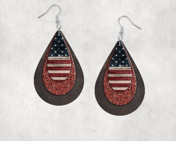 Sublimation print only - Tear drop earring design - size 1.5 or 2 inch