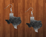 Sublimation print ONLY - Texas state black glitter - Made for our MDF sublimation rounds
