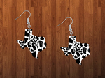 Sublimation print ONLY - Texas state cow print - Made for our MDF sublimation rounds