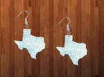 Sublimation print ONLY - Texas state blue print - Made for our MDF sublimation rounds