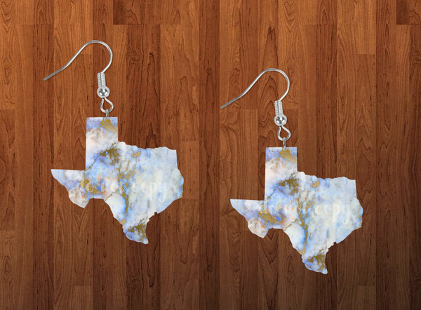 Sublimation print ONLY - Texas state blue marble - Made for our MDF sublimation rounds