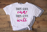 Sublimation print - This girl can, This girl will #2177
