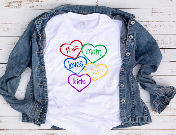 This Mom loves her kids Heat Transfer (screen print)