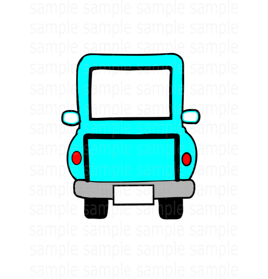 (Instant Print) Digital Download - Tiki blue truck