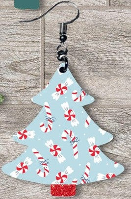 Sublimation print ONLY - Candy cane  Christmas Tree - Made for our MDF sublimation