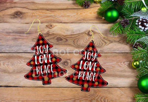 Sublimation print ONLY - Joy Love Peace Tree - Made for our MDF sublimation
