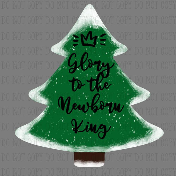 Sublimation print ONLY - Glory to the newborn king Tree - Made for our MDF sublimation