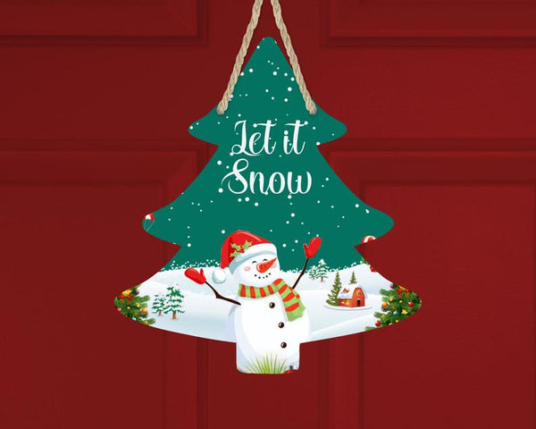 Sublimation print ONLY - Let is snow Tree - Made for our MDF sublimation