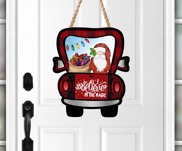 (Instant Print) Digital Download - Santa believe in magic truck -  design made for MDF  blanks