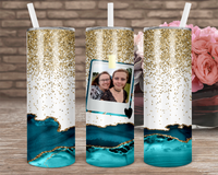 (Instant Print) Digital Download - Add your own photo tumbler  - 20oz skinny straight & tapered file