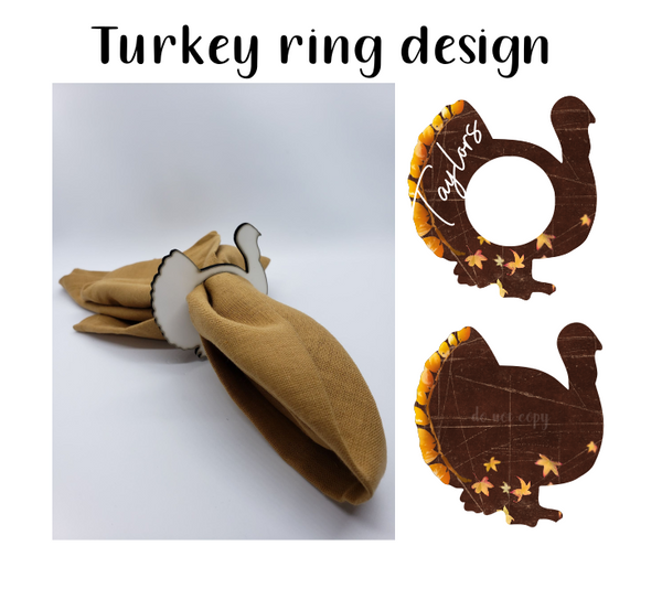 (Instant Print) Digital Download - Turkey napkin holder design - Made for our malin blanks