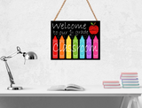 (Instant Print) Digital Download - Welcome to our classroom bundle 4pc with mockups  , made for our MDF blanks