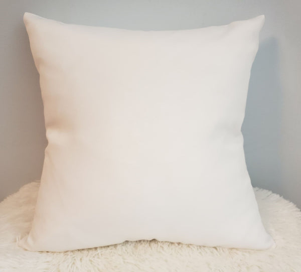 White 100% Polyester Canvas Pillow Case -  Great for sublimation !