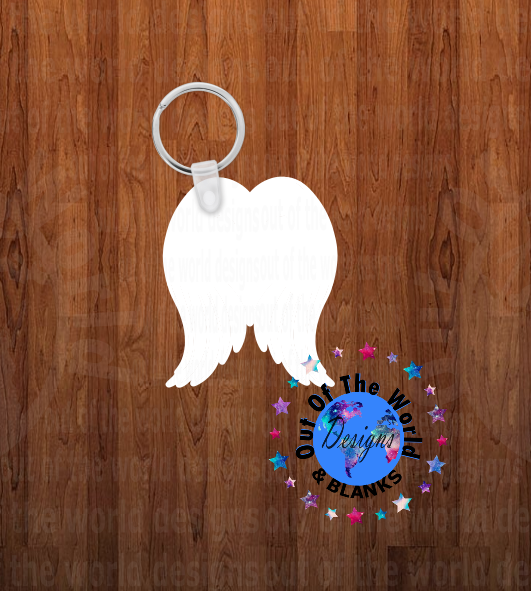 Angel wing  Keychain - Single sided or double sided  -  Sublimation Blank