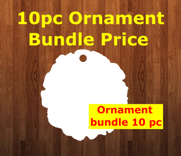 Wood Slice 10pc or 25pc  Ornament Bundle Price