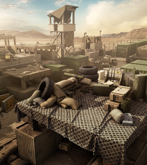 Military Outpost: From Concept to Texturing