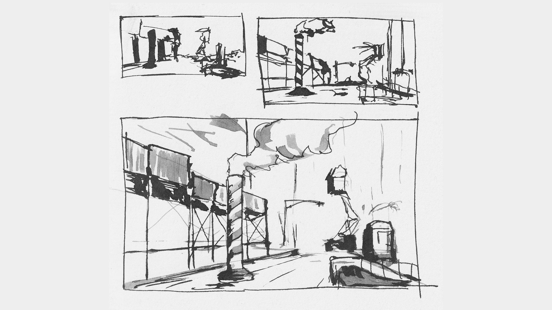 sketching the scene