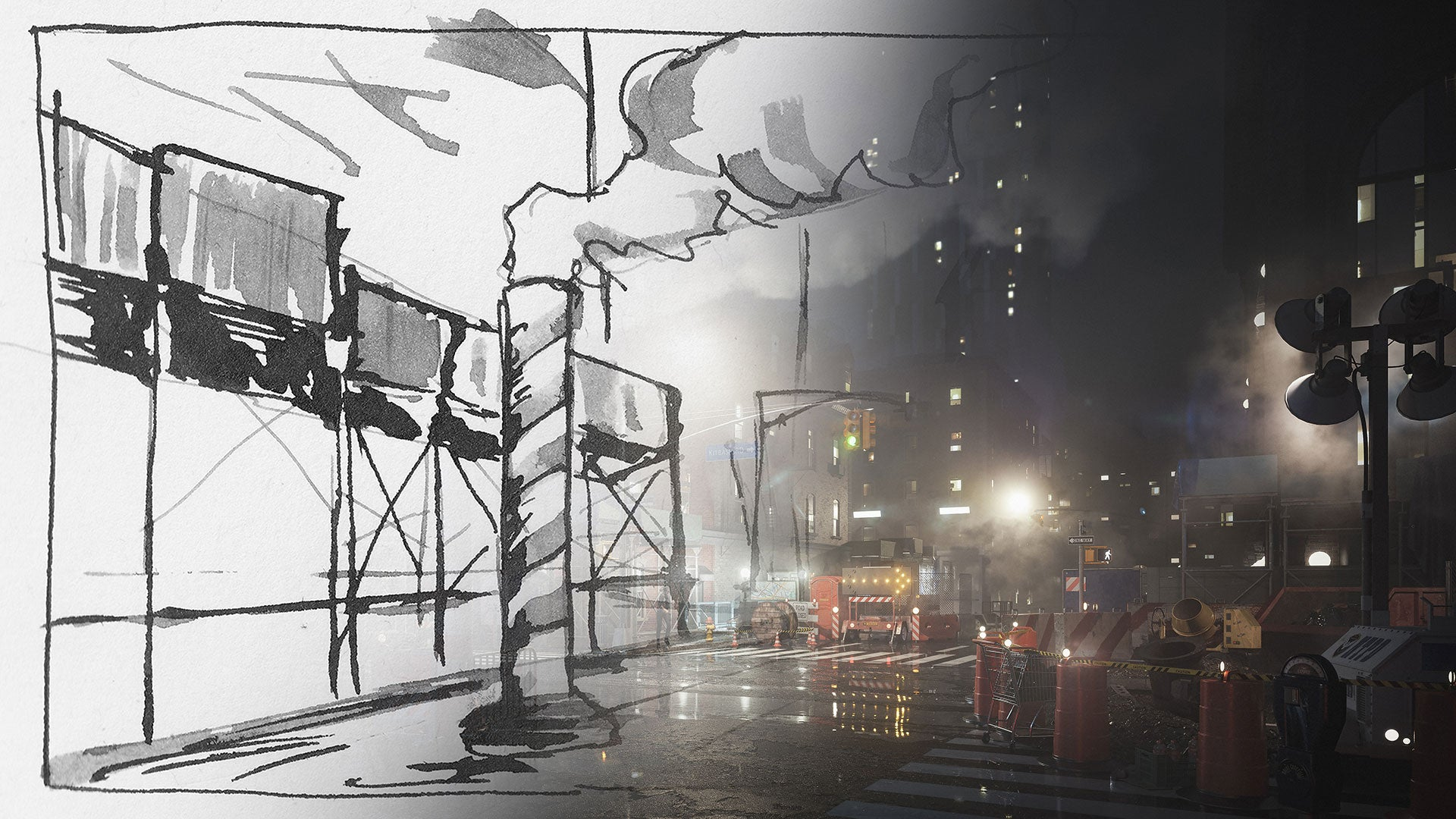 City Streets from sketch to 3d