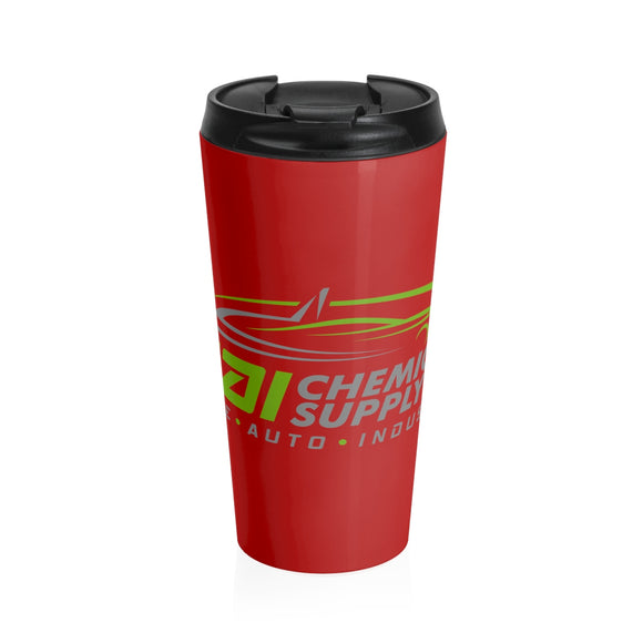 Stainless Steel Travel Mug Red