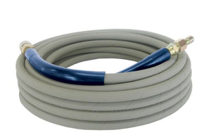 "100-Foot (3/8"") 4000 PSI Grey Non-Marking High Pressure Hose"