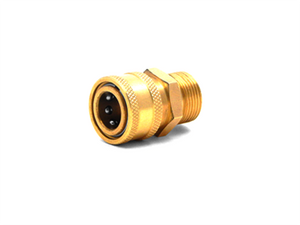 "3/8"" QC BRASS COUPLER X M22 M 15MM PLUG"