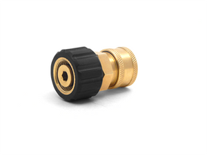 "3/8"" QC BRASS COUPLER X M22 F 15MM TWIST COUPLER"