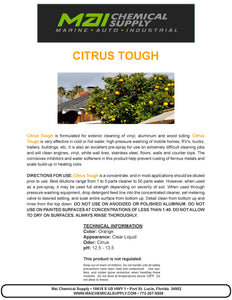 5 Gal Citrus Tough (EXT Cleaner on vinyl, aluminum and wood siding)