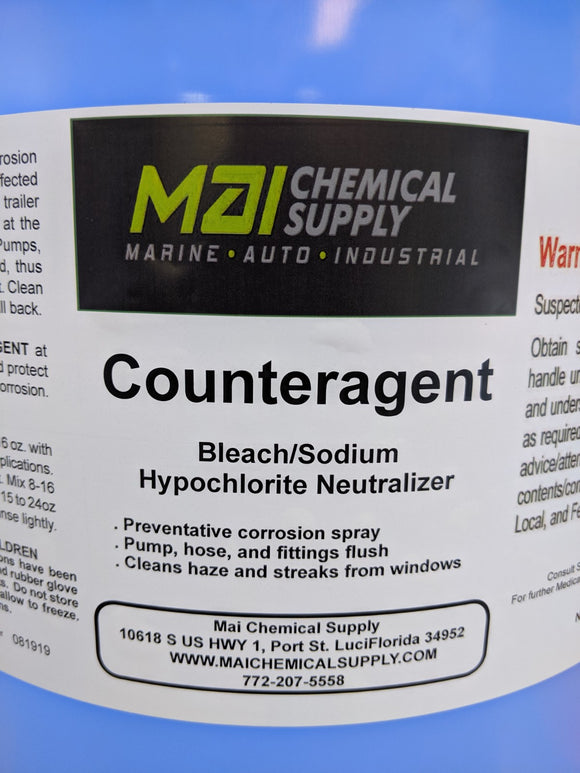 1 Gal COUNTERAGENT (Bleach/Sodium Hypochlorite Neutralizer)