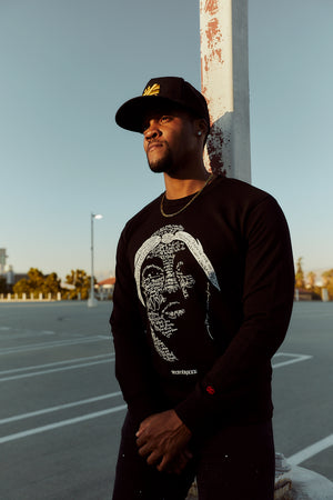 """California Love"" Black Crewneck Sweater - Mystérieux Brand"