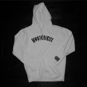 """Currency"" White Hoodie - Mystérieux Brand"