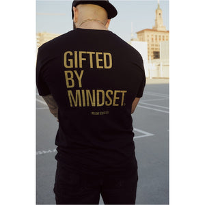 """Gifted By Mindset"" Black Tee - Mystérieux Brand"