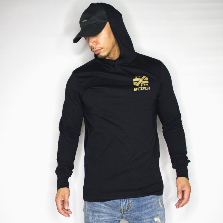"""Not Equal Imprint"" Long Sleeve Black Hoody - Mystérieux Brand"