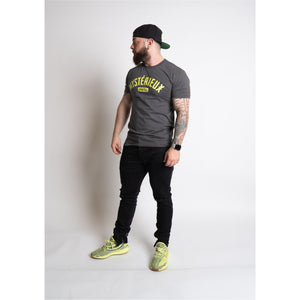 """International"" Black/Volt Tee - Mystérieux Brand"