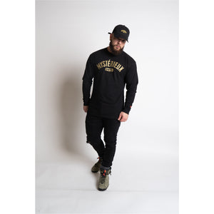 """International"" Black/Gold Long Sleeve Tee - Mystérieux Brand"