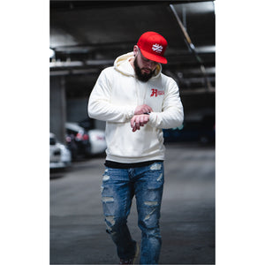 """Hustle Harder"" Off White Hoodie - Mystérieux Brand"
