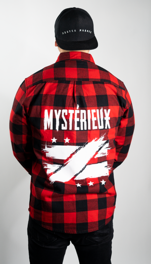 """Envisioned"" Red Flannel Button Up - Mystérieux Brand"