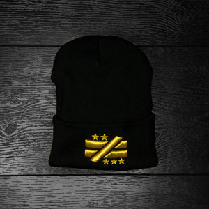 """Not Equal"" Black/Gold Beanie"
