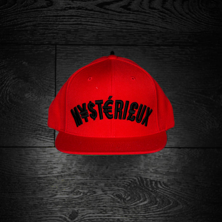 """Currency"" Red/Black Snapback - Mystérieux Brand"