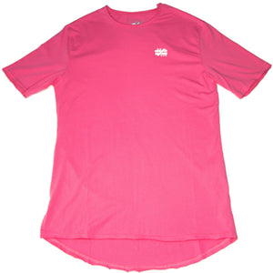 """Not Equal Imprint"" Pink Elongated Tee - Mystérieux Brand"
