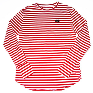"""Not Equal Imprint"" Long Sleeve Stripes"