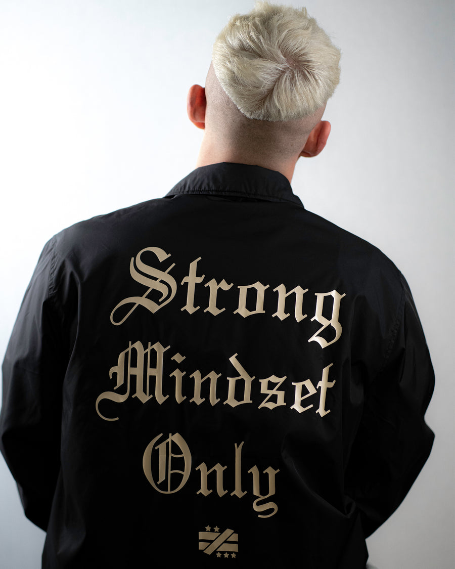"""Strong Mindset Only"" Black Workmen's Jacket - Mystérieux Brand"