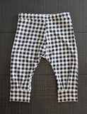 Black Plaid Joggers