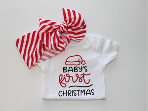 Baby's First Christmas Shirt