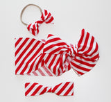 Candy Cane Stripe Bow