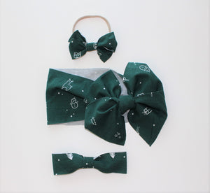 Christmas Green Bow